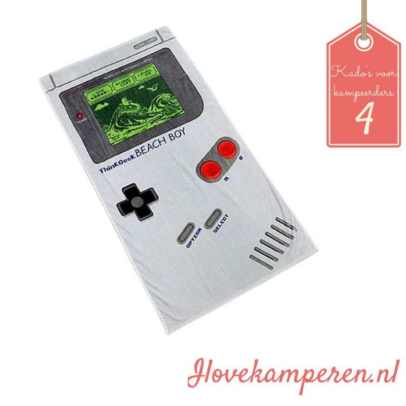 Handdoek game boy kado kamperen design