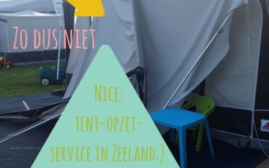Tent opzet service: yes please!
