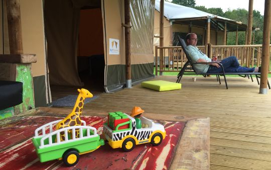 Glamping in een safaritent